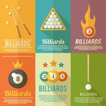 Billiards poster set
