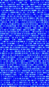 Binary code, blue digits on the computer screen.