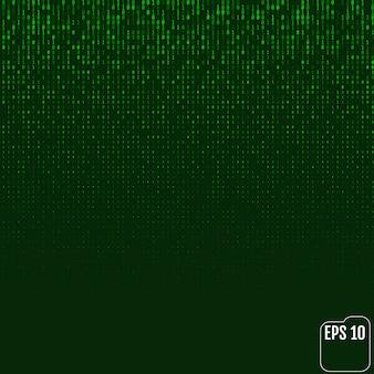 이진 코드 녹색 네온 광선 매트릭스