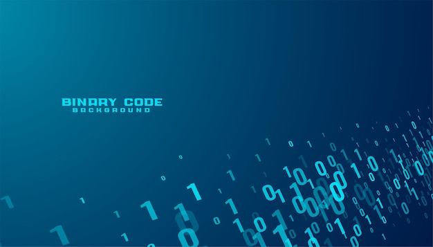 Binary code numbers data stream technology background