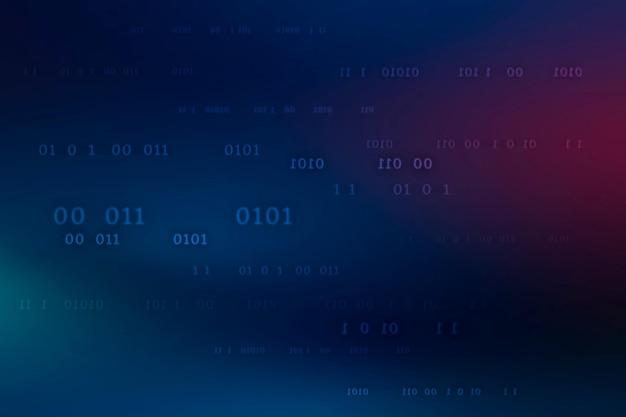 Modello di codice binario su sfondo blu scuro