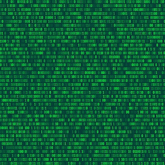 Binary computer code repeating vector background