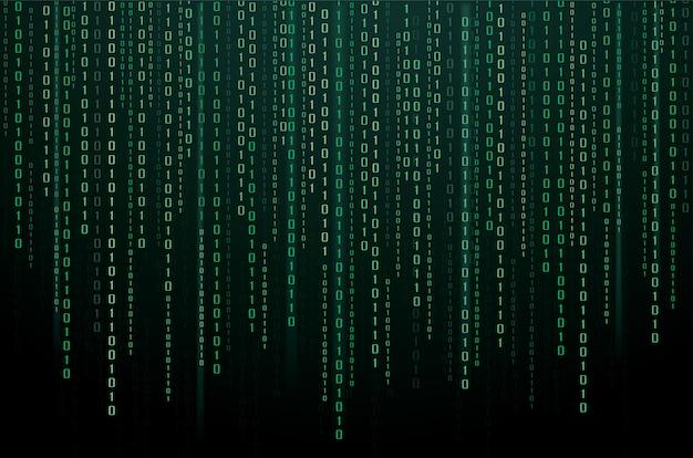 Binary data and streaming binary code background