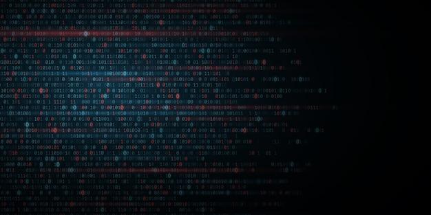 バイナリソフトウェアコードの背景。デジタルデータ技術の概念。