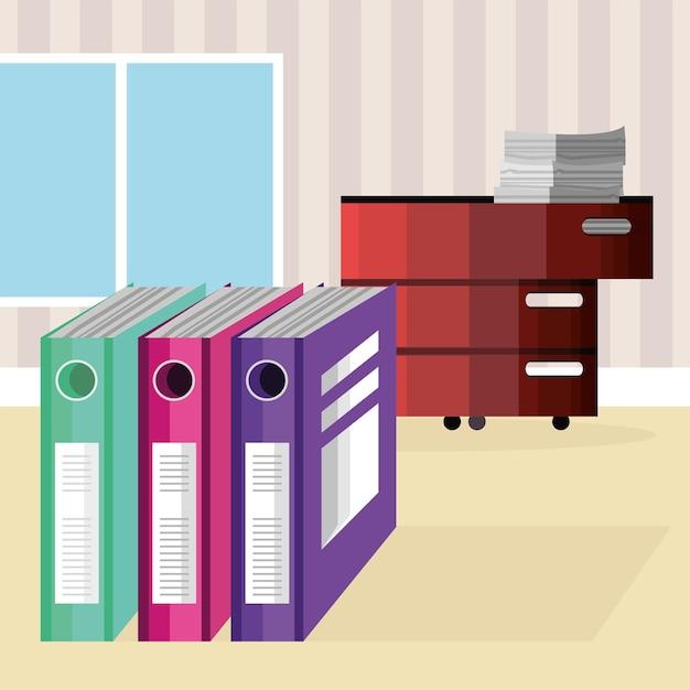 Binders cabinet folders office