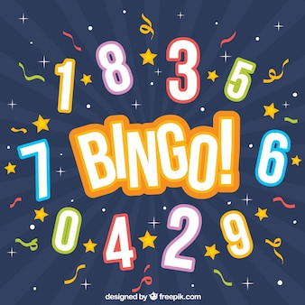 Bingo background with numbers