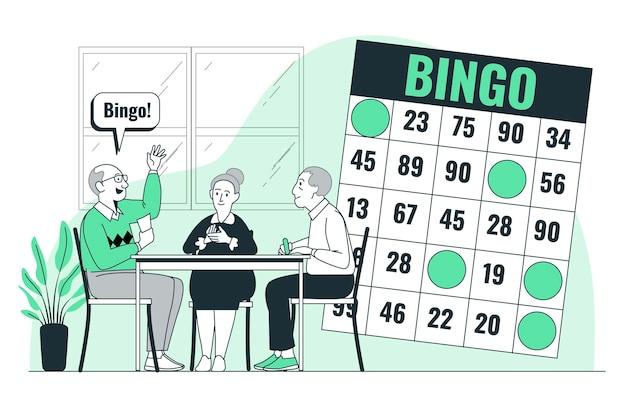 Illustrazione del concetto di bingo