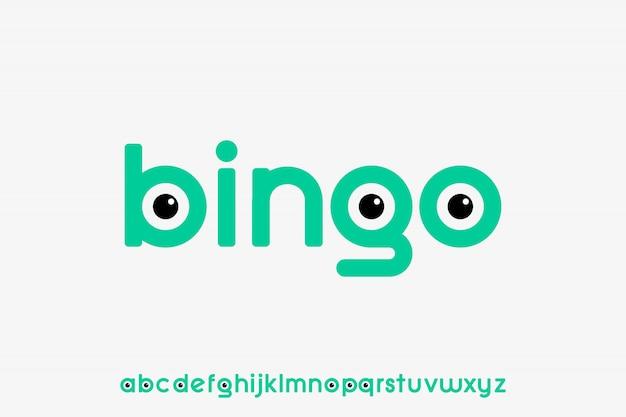Бинго, веселый современный геометрический шрифт