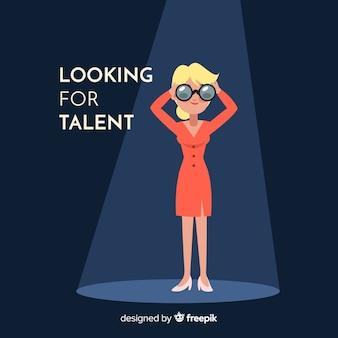 Бинокль женщина ищет талант фон