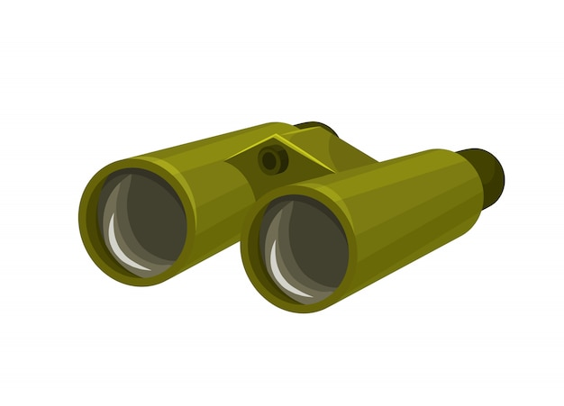 Binoculars isolated icon in cartoon style