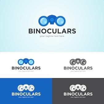 Шаблон дизайна логотипа биноклей