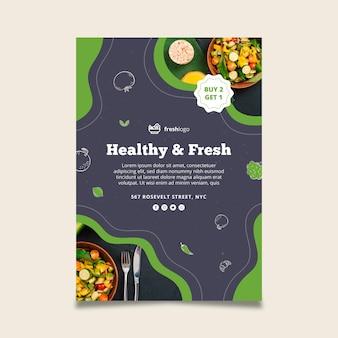 写真付きのバイオで健康的な食品チラシ