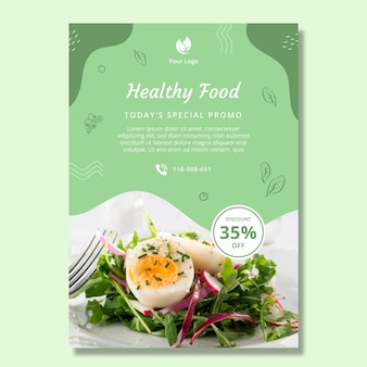 バイオと健康食品のポスターテンプレート