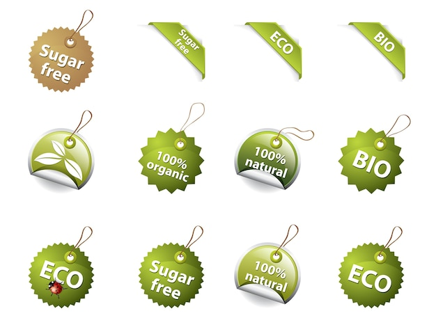 Bio and eco icons/labels