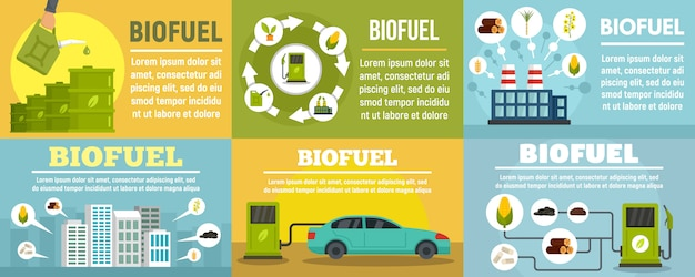 Bio fuel station banner set