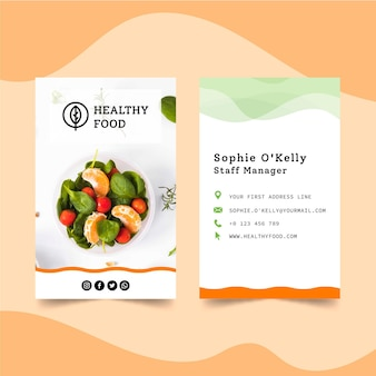 Bio and healthy double-sided business card