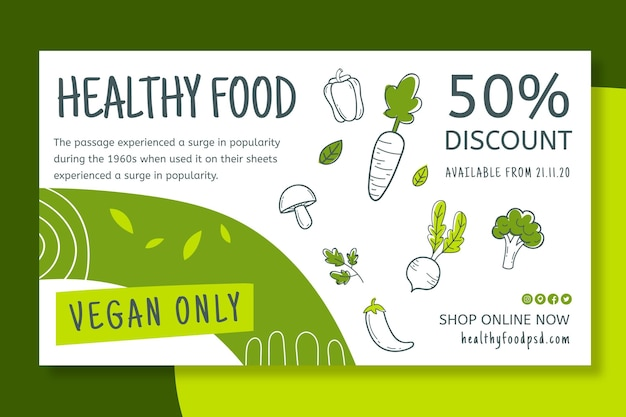 Bio & healthy food banner