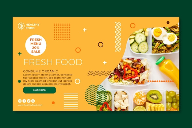 Bio and healthy food banner