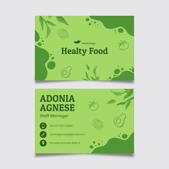 Bio and healthy food business card