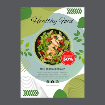 Bio and healthy food flyer template