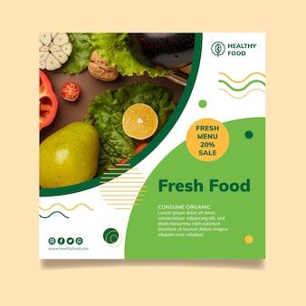 Bio & healthy food flyer template