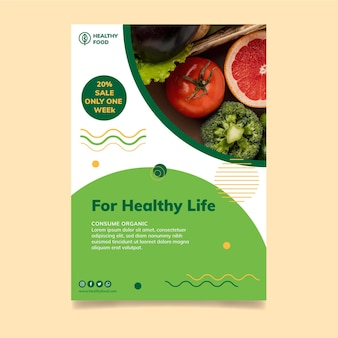 Шаблон флаера о био и здоровом питании