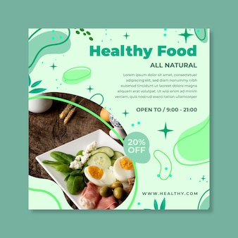 Bio & healthy food flyer