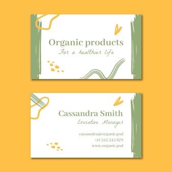 Bio and healthy food horizontal business card