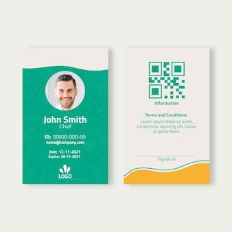 Bio and healthy food id card template