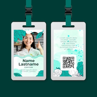 Bio and healthy food id card template