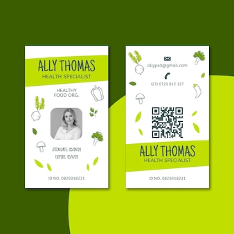 Bio & healthy food id card
