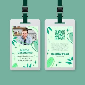 Carta d'identità per alimenti biologici e sani
