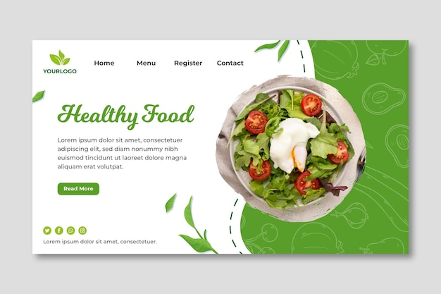 Bio and healthy food landing page
