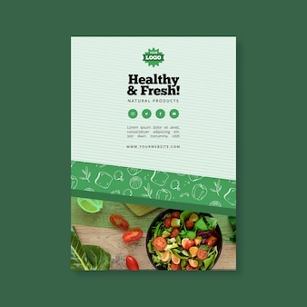 Bio and healthy food poster template