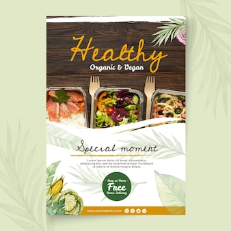 Poster di cibo biologico e sano