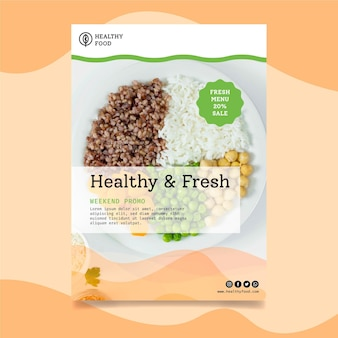 Bio and healthy food vertical flyer