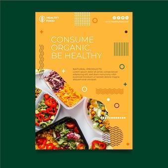 Bio and healthy food vertical flyer