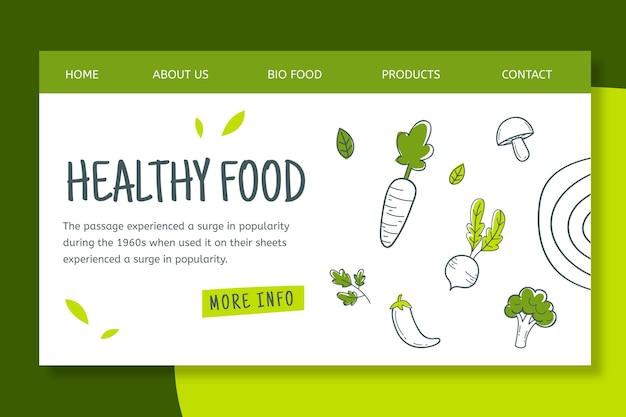 Pagina di atterraggio di alimenti biologici e sani