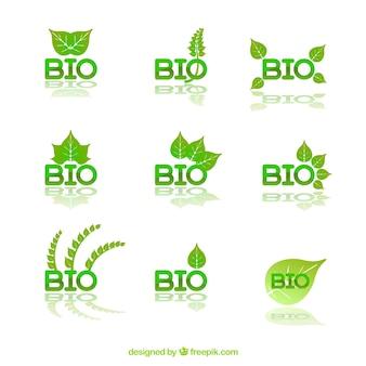 Био логотипы коллекция