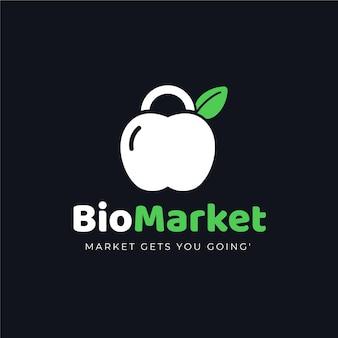 Bio market logo style