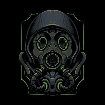 The biohazard mask illustration