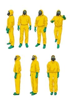 Biohazard set on white
