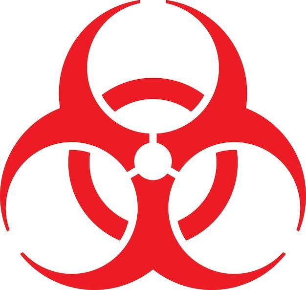 健康産業の概念のためのバイオハザードサイン、ベクトル形式。
