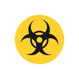 Biohazard yellow circle sign graphic illustration