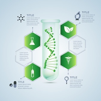 Biological research infographic