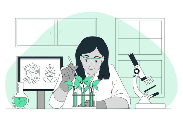 Illustrazione di concetto di biologo