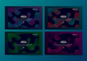 Biology cells informational website graphic