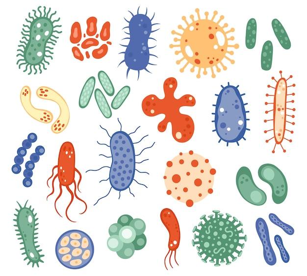 Микроорганизмы биологии, изолированные на белом фоне
