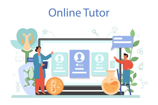 생물학 학교 과목 온라인 서비스 또는 플랫폼