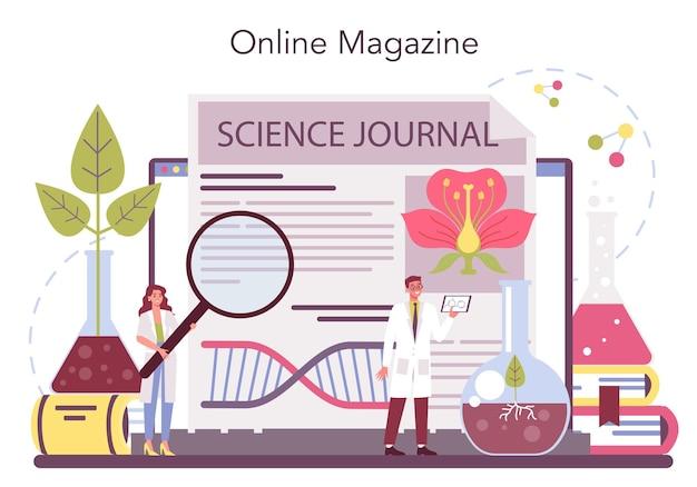 Онлайн-сервис или платформа для биологических наук Premium векторы